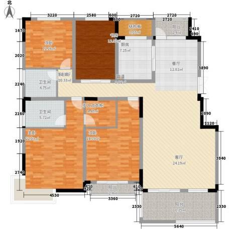 国信来凤街1号4室1厅2卫1厨186.00㎡户型图