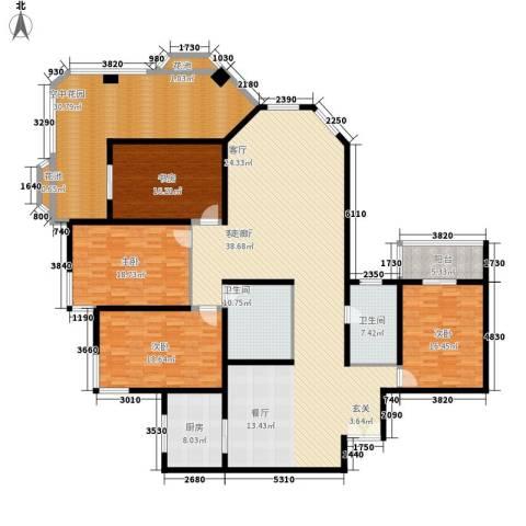 汾河景观3604室1厅2卫1厨238.00㎡户型图