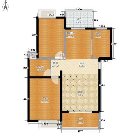 中虹花园锦绣文华2室0厅1卫1厨107.00㎡户型图