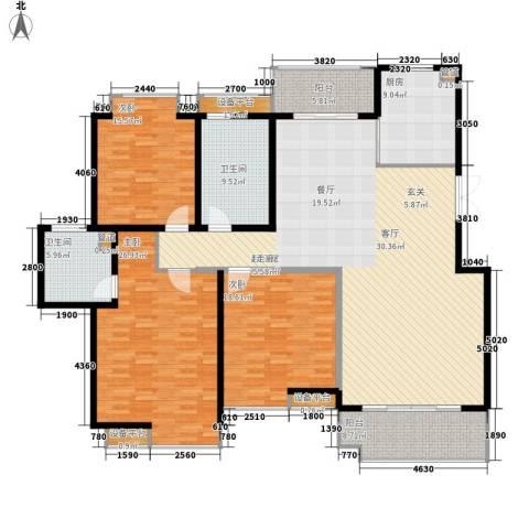 中虹花园锦绣文华3室0厅2卫1厨183.00㎡户型图