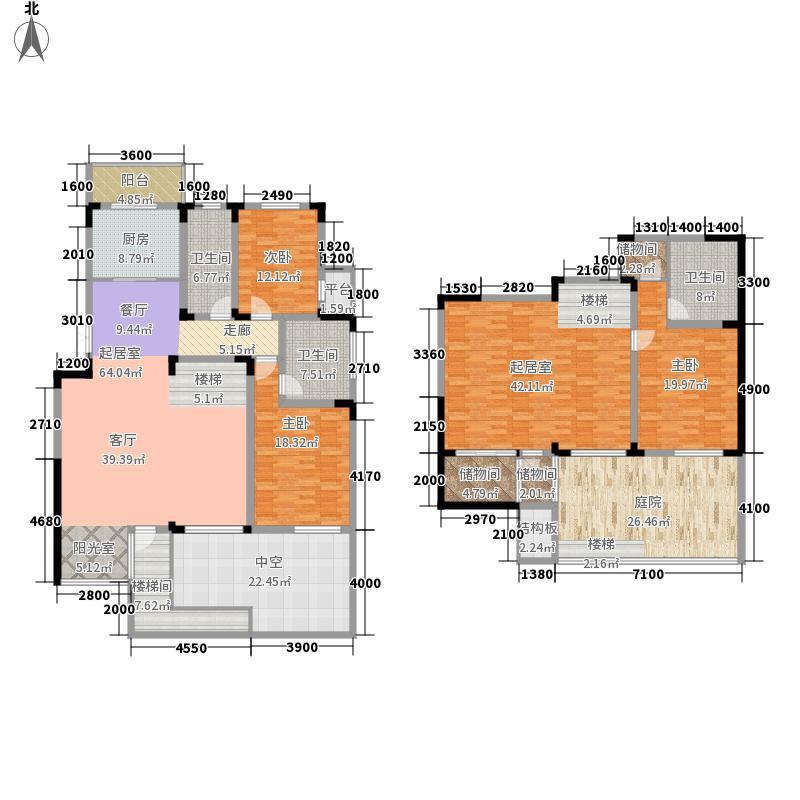 第六田园优仕家园220.00㎡面积22000m户型