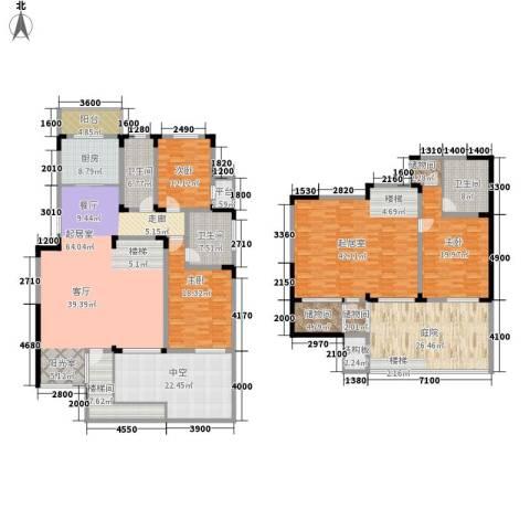 第六田园优仕家园3室0厅3卫1厨261.92㎡户型图