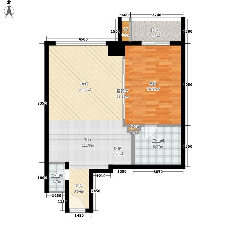青庭国际公寓87.00㎡青庭国际公寓户型图户型图1室2厅1卫1厨户型1室2厅1卫1厨