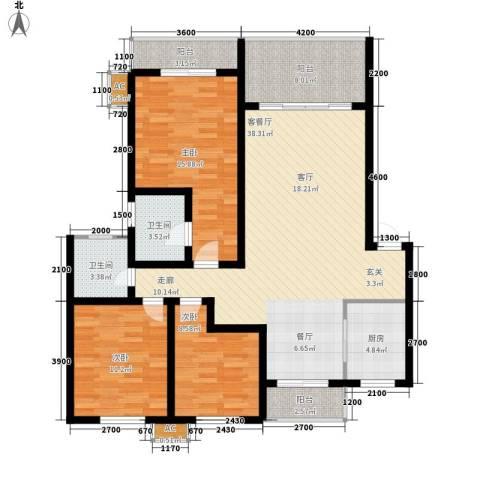 大地之歌3室1厅2卫1厨200.00㎡户型图