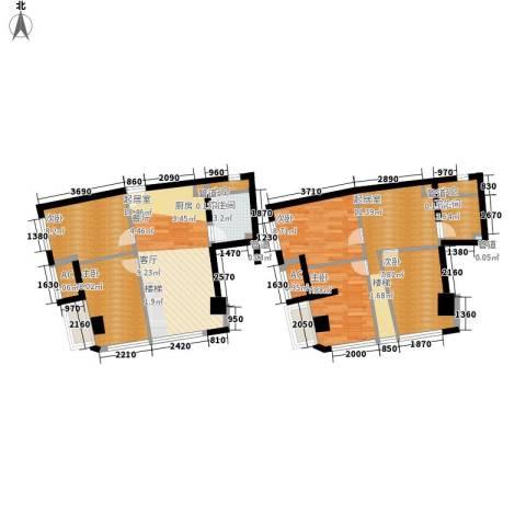 中宇国际中心5室0厅2卫0厨94.00㎡户型图