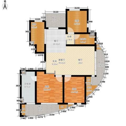 新创理想城3室1厅2卫1厨139.00㎡户型图