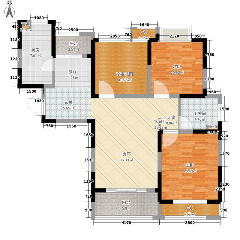 新创理想城110.00㎡新创理想城户型图美寓高层户型2室2厅1卫1厨户型2室2厅1卫1厨