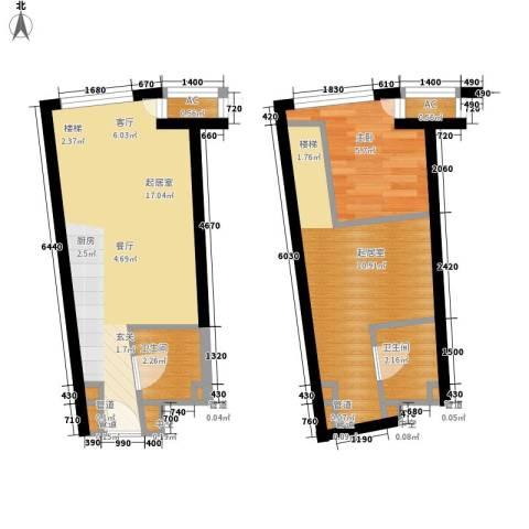 中宇国际中心1室0厅2卫0厨48.00㎡户型图