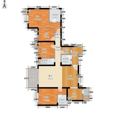 半岛城邦二期4室1厅4卫1厨181.00㎡户型图