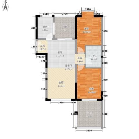 博鳌印象2室1厅1卫1厨100.00㎡户型图
