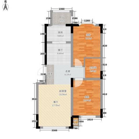 彩虹风景2室0厅1卫1厨94.00㎡户型图