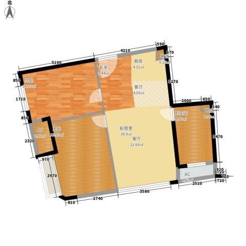 中宇国际中心2室0厅1卫0厨94.00㎡户型图
