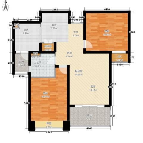 白塘壹号2室0厅1卫1厨105.00㎡户型图