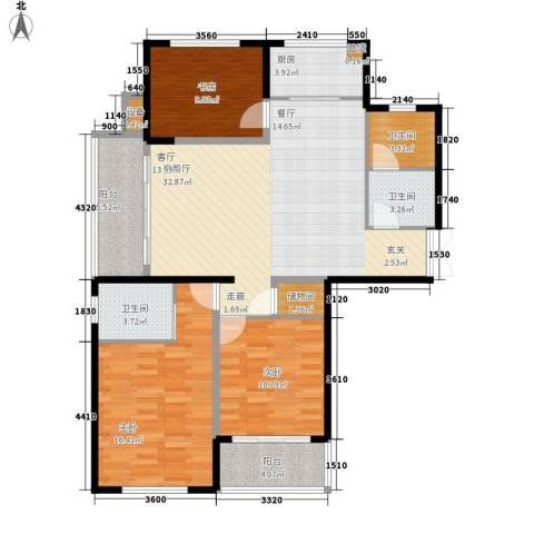 徽州人家3室1厅3卫1厨94.83㎡户型图