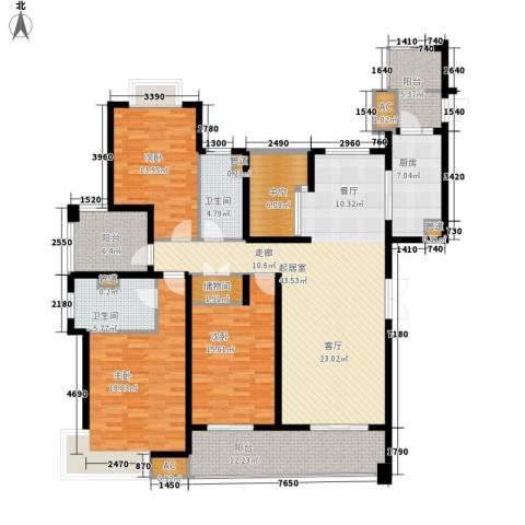 白塘壹号3室0厅2卫1厨165.00㎡户型图