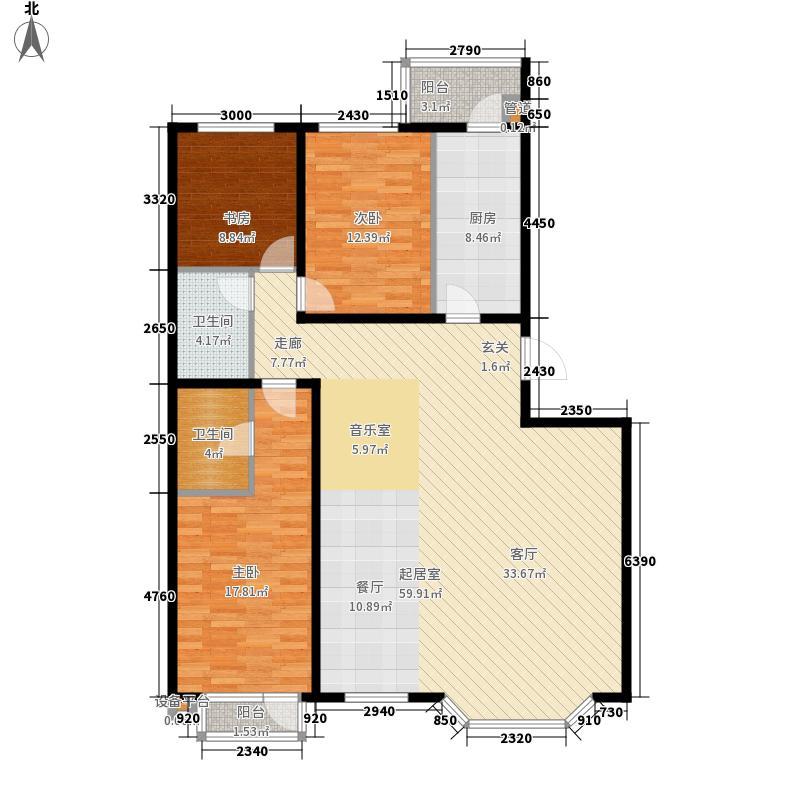 水韵名城158.96㎡L户型3室2厅2卫1厨