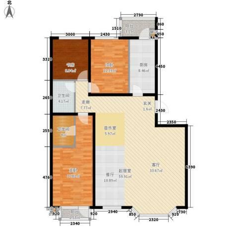水韵名城3室0厅2卫1厨159.00㎡户型图