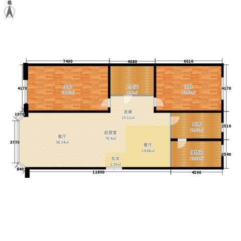 世纪花园2室0厅1卫1厨164.00㎡户型图