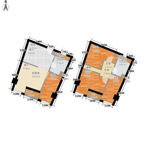 中宇国际中心4室0厅2卫0厨67.00㎡户型图