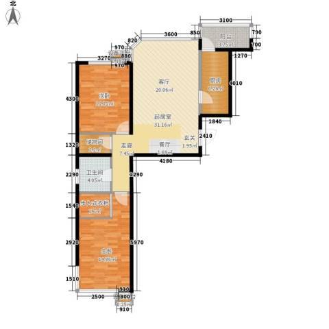 水韵名城2室0厅1卫1厨120.00㎡户型图
