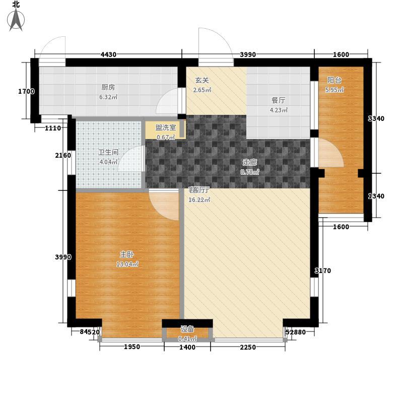 远洋自然85.00㎡远洋自然户型图11号楼C户型1室2厅1卫1厨户型1室2厅1卫1厨