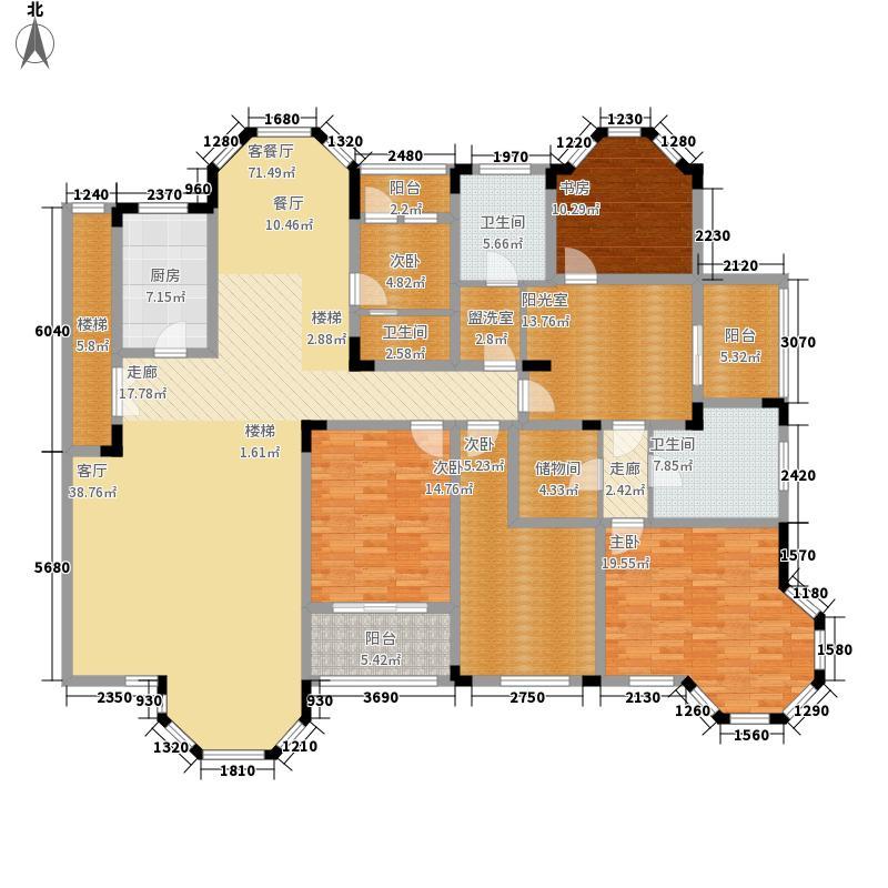 绿城桂花园234.34㎡绿城桂花园户型图L户型5室3厅3卫1厨户型5室3厅3卫1厨