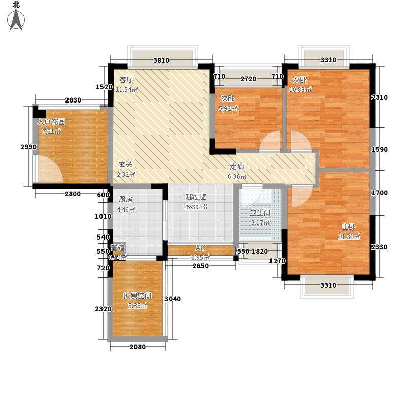 宏业花园83.00㎡宏业花园3室户型3室