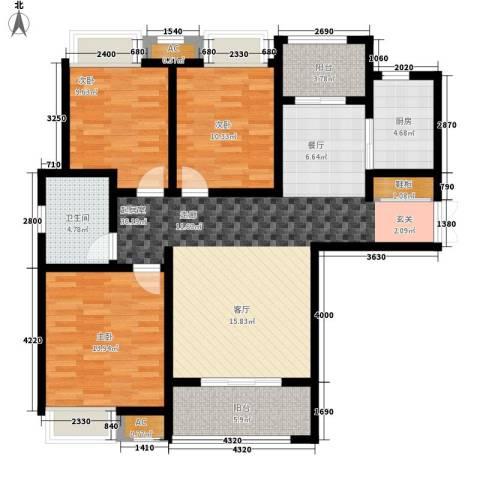 山南小镇3室0厅1卫1厨107.00㎡户型图