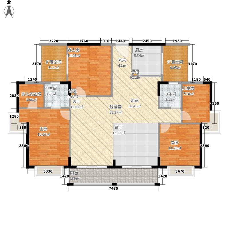 宏业花园99.00㎡宏业花园3室户型3室