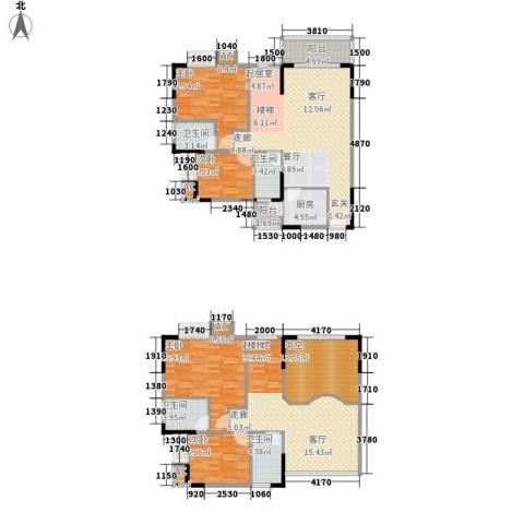文化新村4室0厅4卫1厨146.60㎡户型图