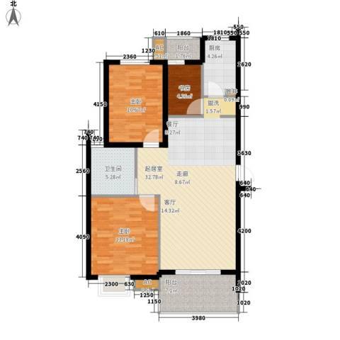 金龙花园二期3室0厅1卫1厨113.00㎡户型图