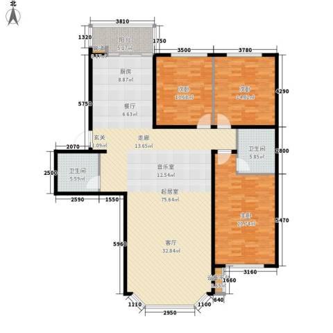 水韵名城3室0厅2卫0厨155.00㎡户型图