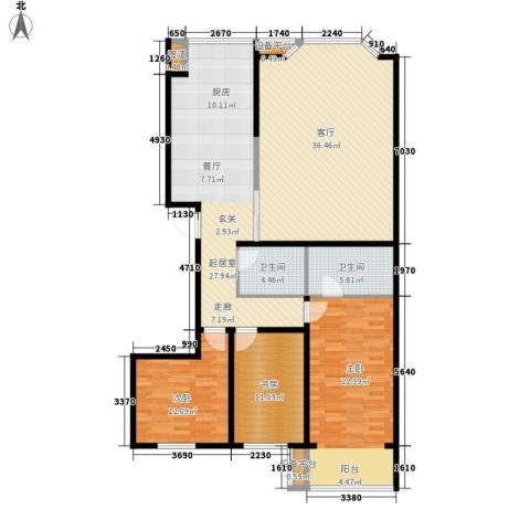 水韵名城3室1厅2卫0厨164.00㎡户型图
