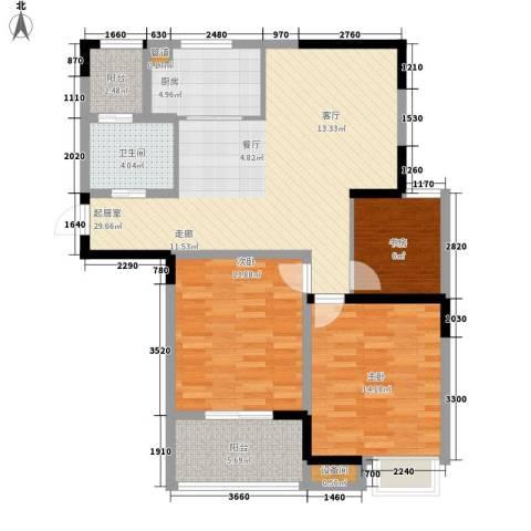 天工琴露园3室0厅1卫1厨94.00㎡户型图
