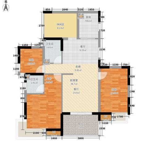 怡丰华府3室0厅2卫1厨114.00㎡户型图