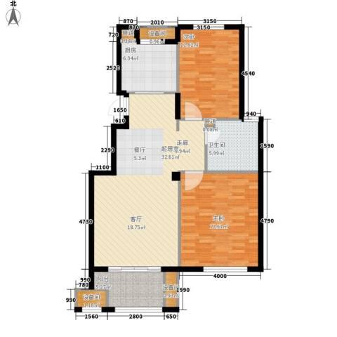 南岸花园2室0厅1卫1厨94.00㎡户型图