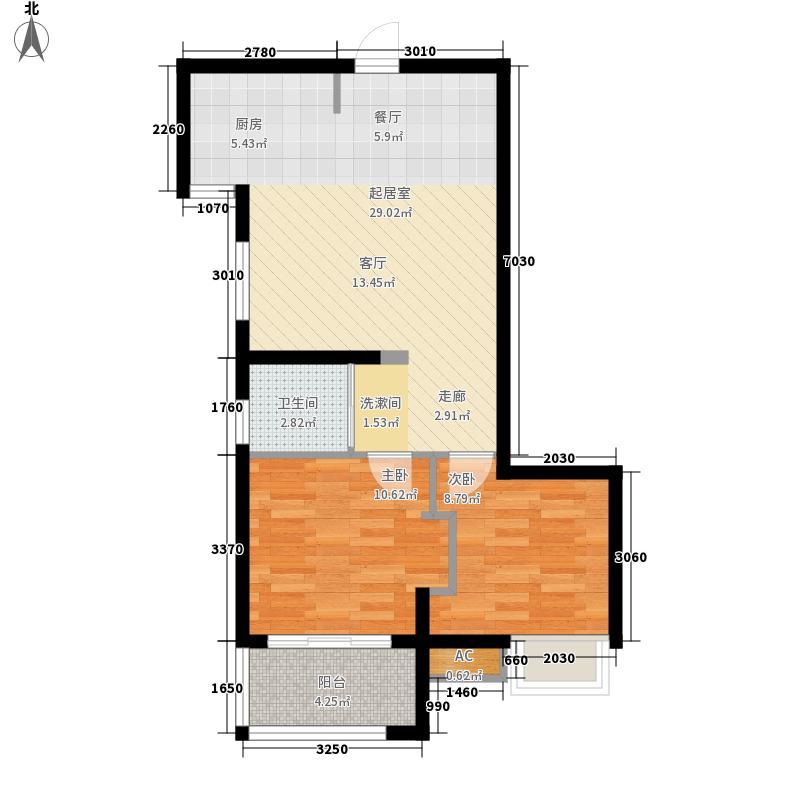美和天著64.00㎡美和天著户型图A-E反面2室2厅1卫1厨户型2室2厅1卫1厨