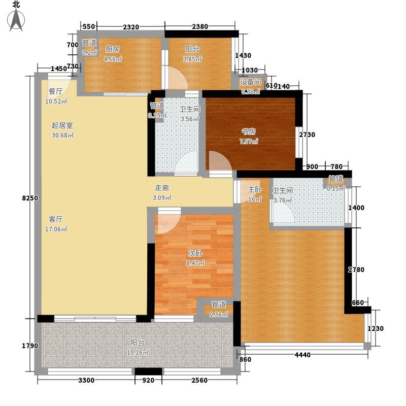 中德英伦联邦89.00㎡B区19号楼G(一)户型3室2厅2卫1厨