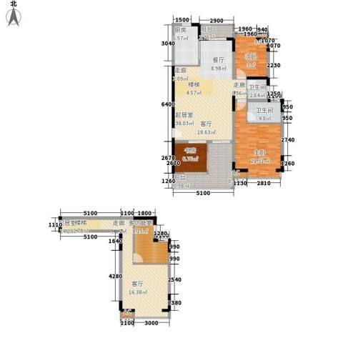 汇景・上层3室0厅2卫1厨189.00㎡户型图