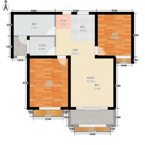 景城名轩2室0厅1卫1厨89.00㎡户型图
