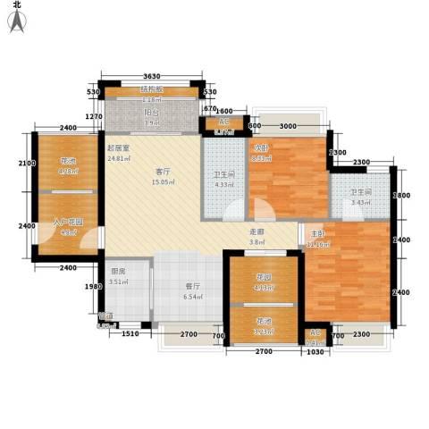 德盛・南岛康城2室0厅2卫1厨78.09㎡户型图