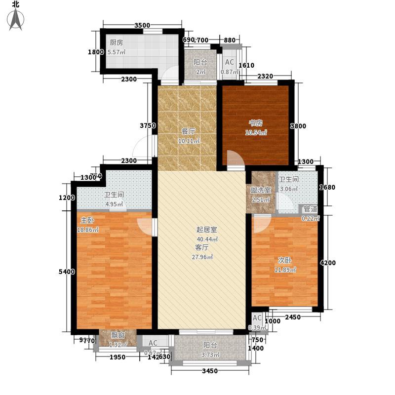 鸿坤理想城户型3室