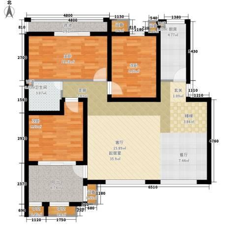 吴甸园3室0厅1卫1厨125.00㎡户型图