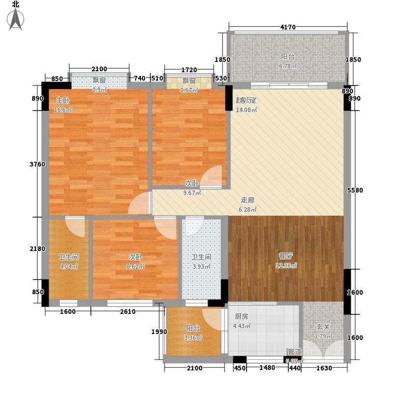 佛罗伦斯93.00㎡佛罗伦斯2室户型2室