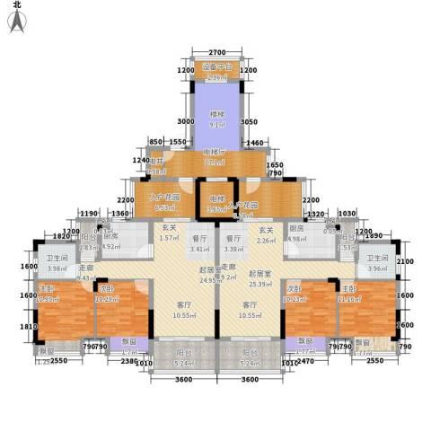 秋谷月半弯4室0厅2卫2厨162.16㎡户型图