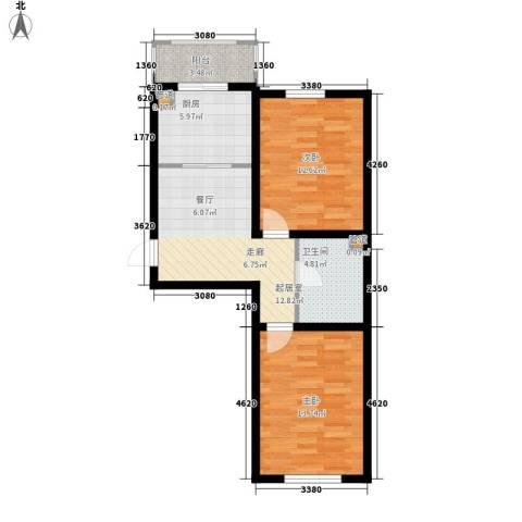 金美程家园2室0厅1卫1厨67.00㎡户型图