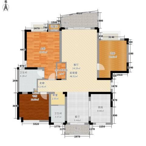 国际华城3室0厅2卫1厨138.00㎡户型图