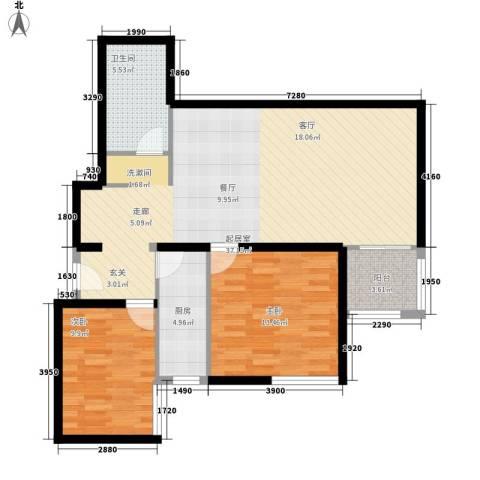 电子城小区2室0厅1卫1厨84.00㎡户型图