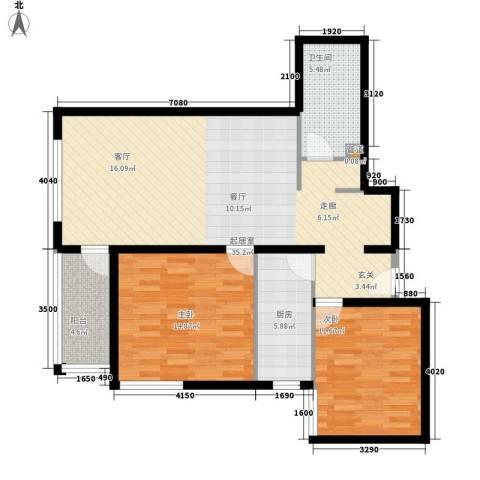 电子城小区2室0厅1卫1厨88.00㎡户型图