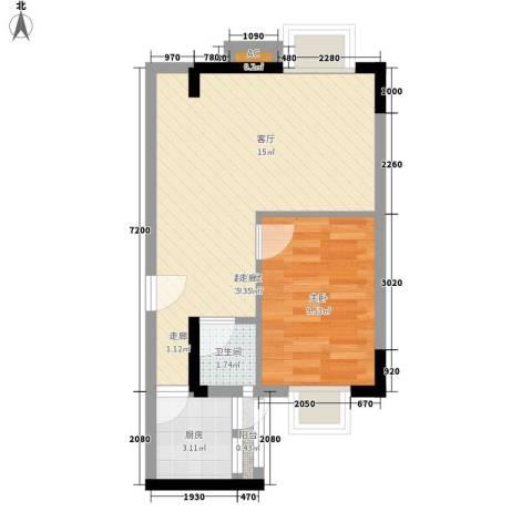 粤顺豪庭1室0厅1卫1厨53.00㎡户型图